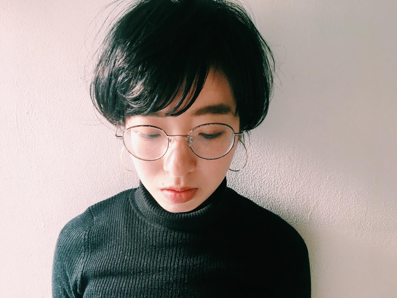 ショート 透明感 アッシュ 暗髪 ヘアスタイルや髪型の写真・画像 | 長 賢太郎 / ky-go
