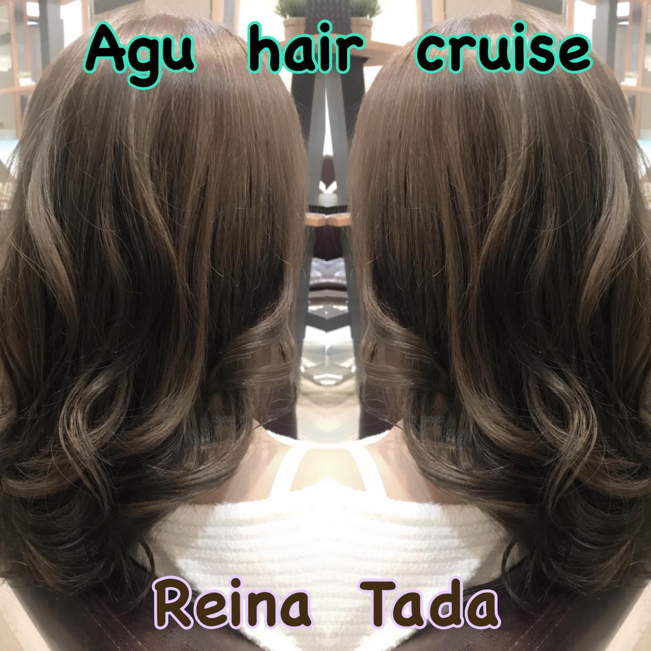 トレンド アッシュ ナチュラル 透明感 ヘアスタイルや髪型の写真・画像   多田 令奈 / AUBE  hair  licht