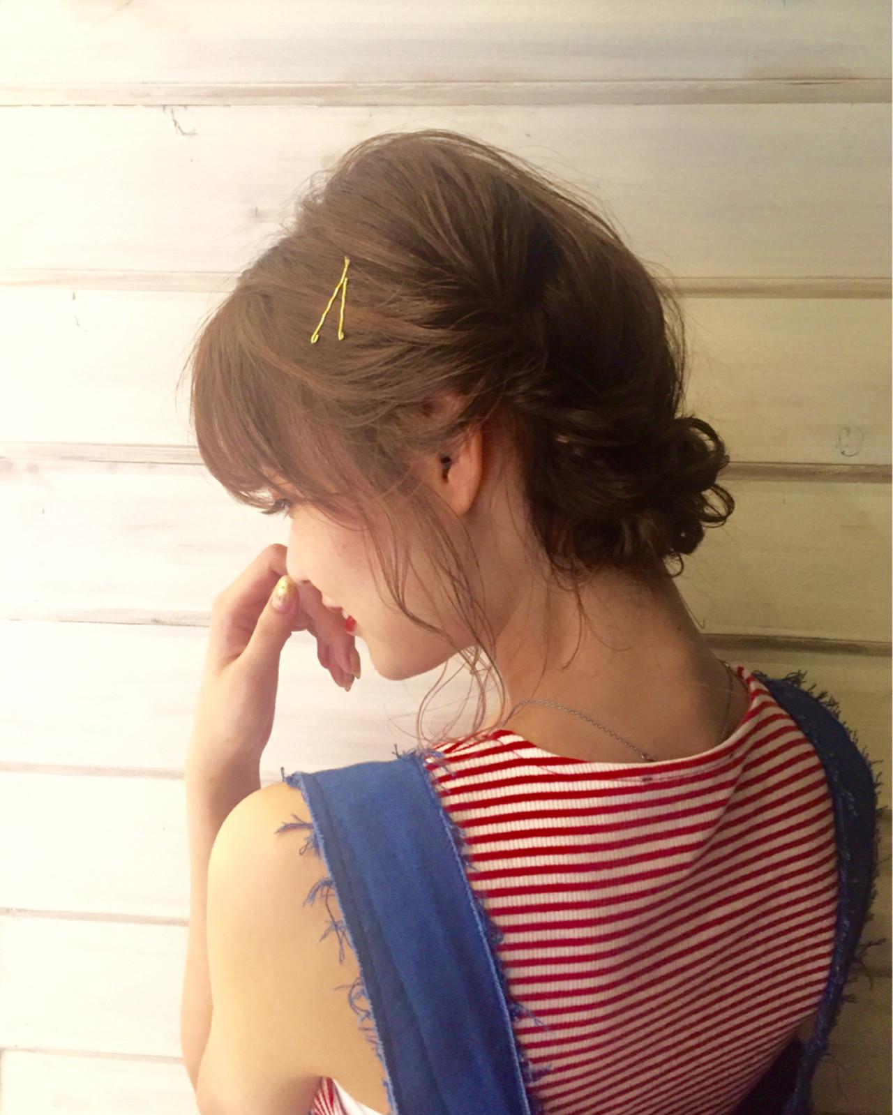 二次会 ミディアム 結婚式 簡単ヘアアレンジヘアスタイルや髪型の写真・画像