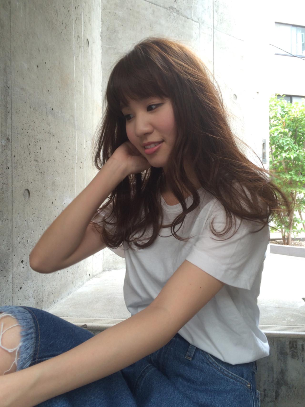 ナチュラル パーマ 前髪パッツン 前髪あり ヘアスタイルや髪型の写真・画像 | 【素材コンシェルジュ型/ショートの極】川島佑一 / Lounge×morio ikebukuro