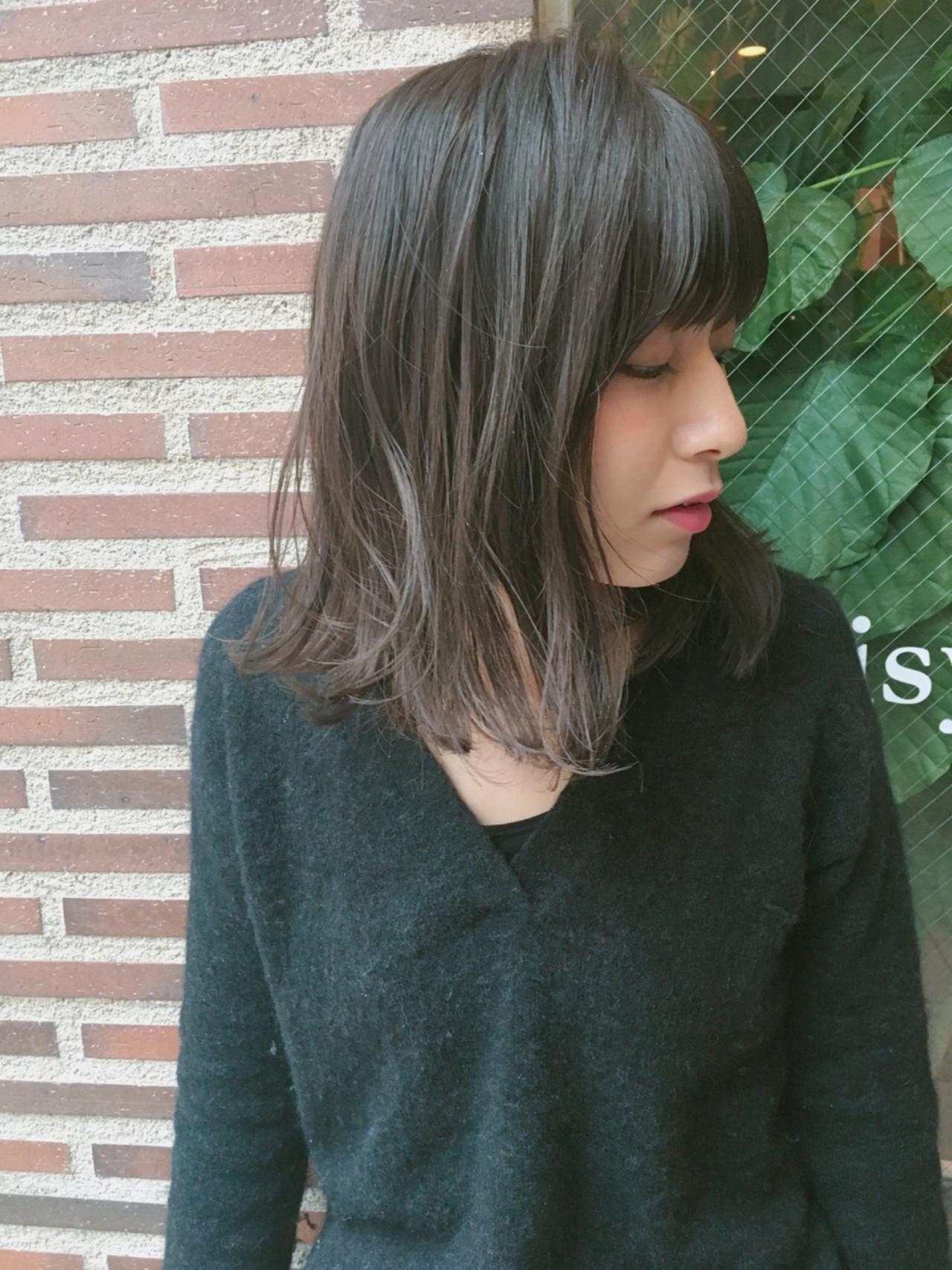 ハイライト アッシュ 大人女子 小顔 ヘアスタイルや髪型の写真・画像   Ryota Yamamoto Daisy / Daisy