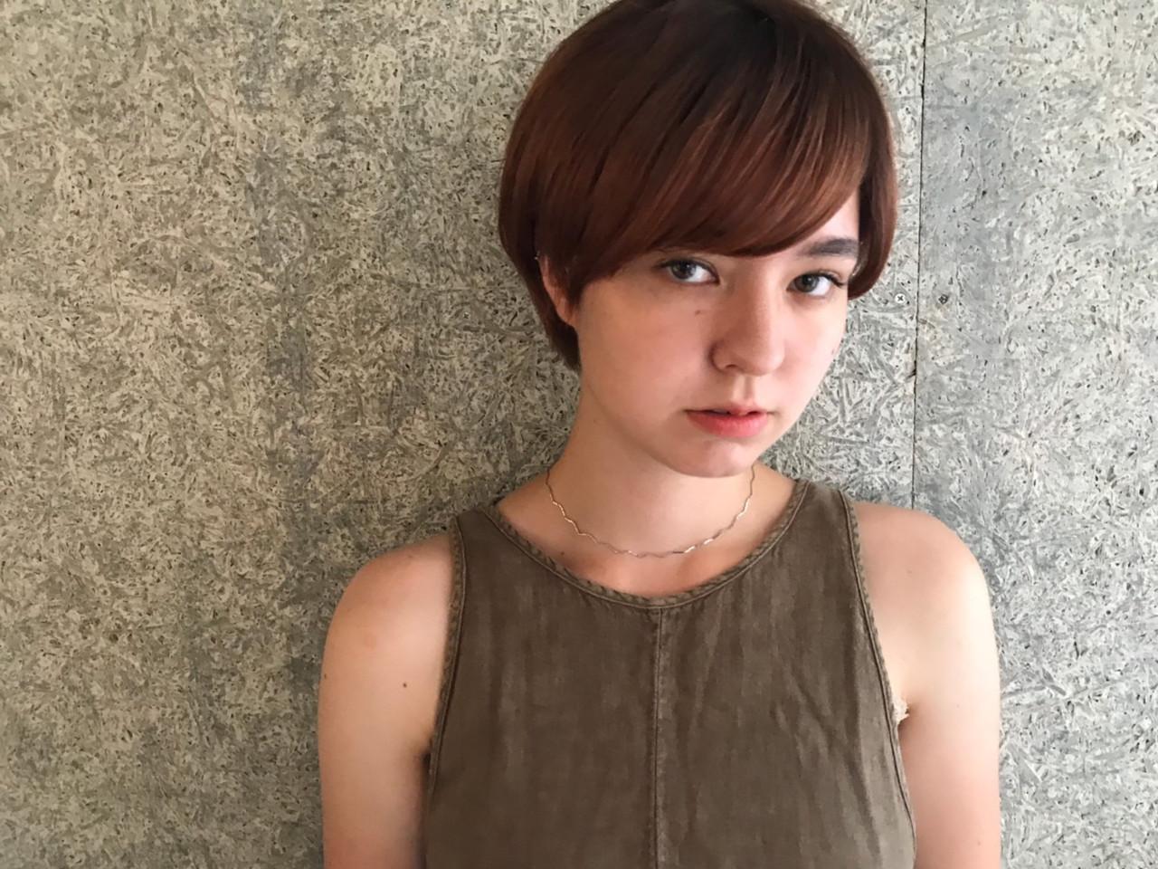 ナチュラルグラデーション マッシュショート ナチュラル可愛い ショートボブ ヘアスタイルや髪型の写真・画像 | Yohei Kato / Lin'ne 代表