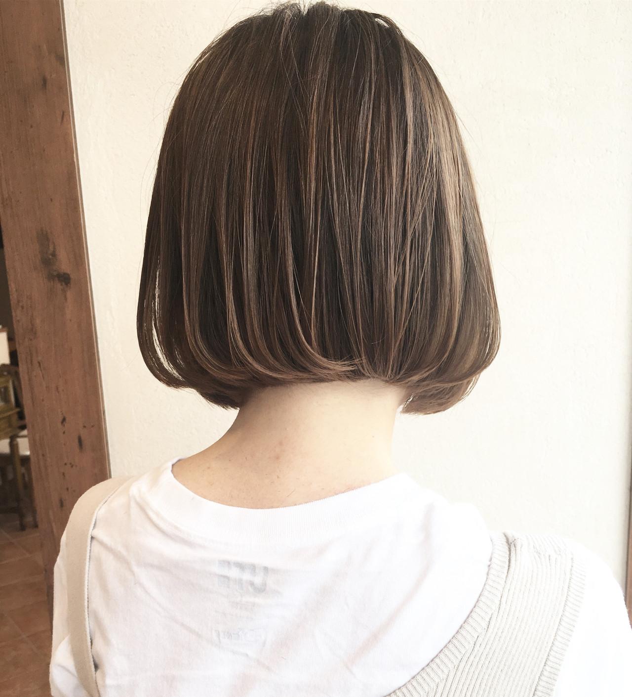 ショートボブ 切りっぱなしボブ 小顔ヘア ボブ ヘアスタイルや髪型の写真・画像 | 宮川好江 / Euphoria SHIBUYA GRANDE