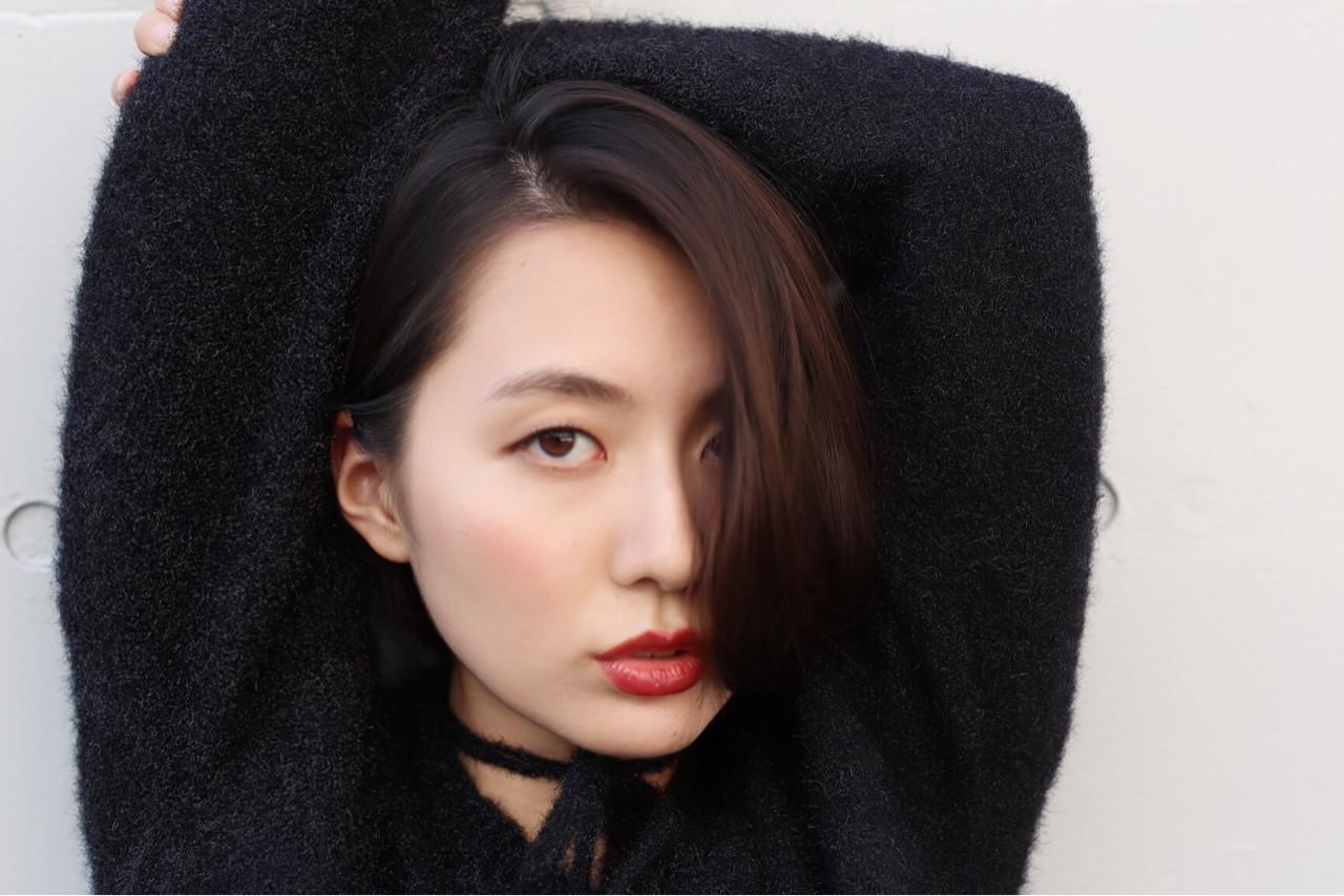 切りっぱなし オフィス デート ナチュラル ヘアスタイルや髪型の写真・画像 | 渡部幸也 / riLLa