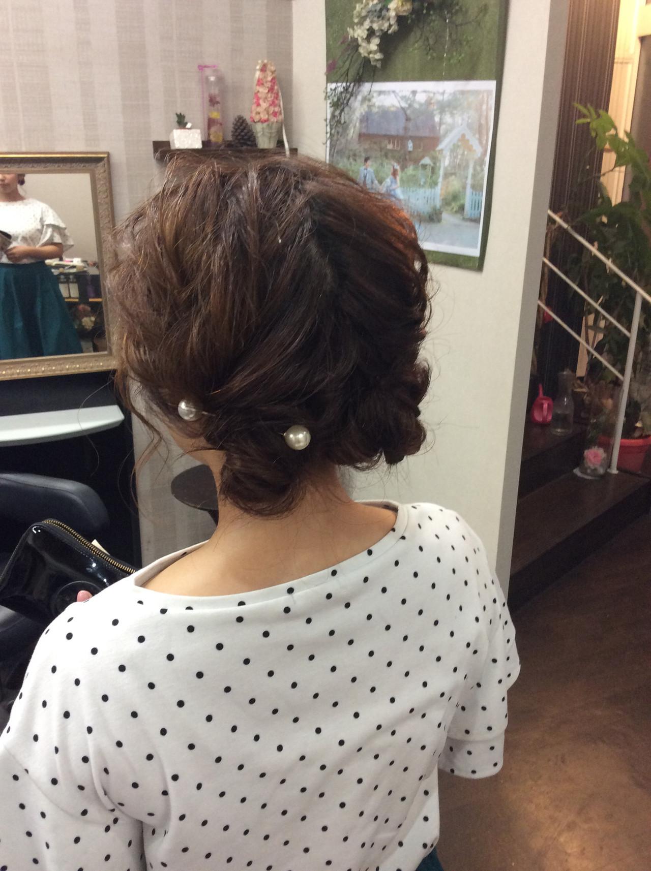 ヘアアレンジ デート ミディアム 簡単ヘアアレンジ ヘアスタイルや髪型の写真・画像 | rumiLINKS美容室 / リンクス美容室