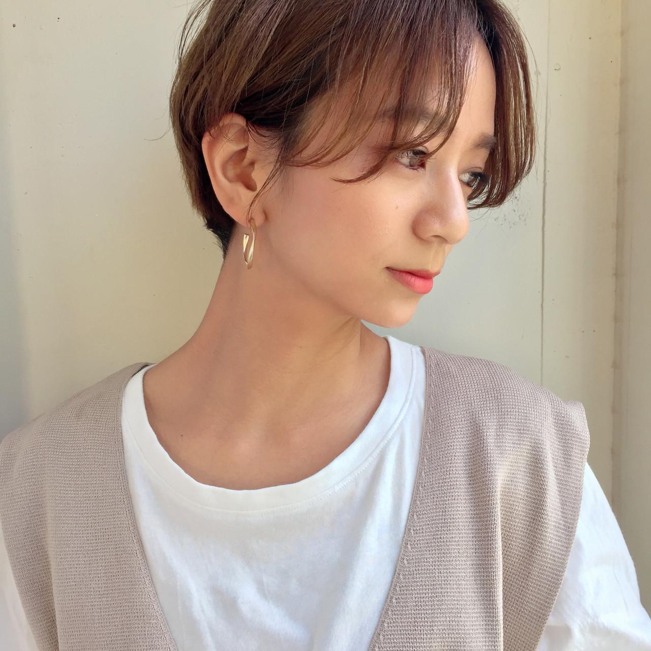 ハンサムショート 大人ショート ショート ショートボブ ヘアスタイルや髪型の写真・画像 | GARDEN《ショート/ベージュ》雲林院 優 / lora.garden