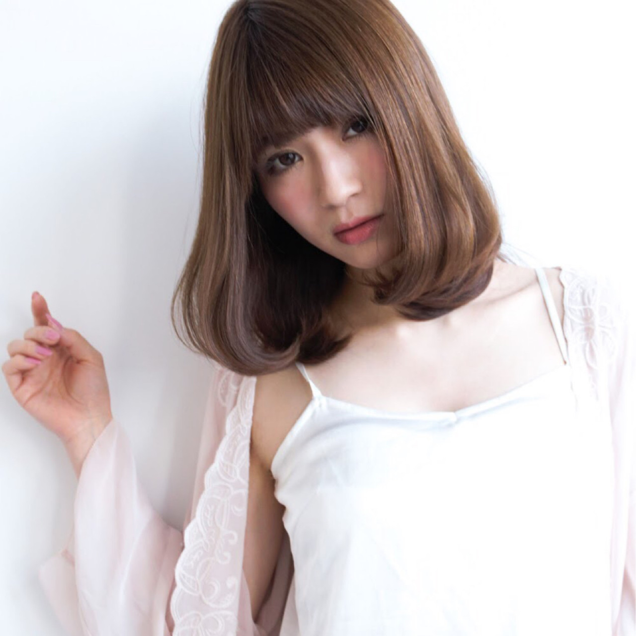 ナチュラル ヘアアレンジ 簡単ヘアアレンジ ロブ ヘアスタイルや髪型の写真・画像 | 城戸 康輔 / un le pont