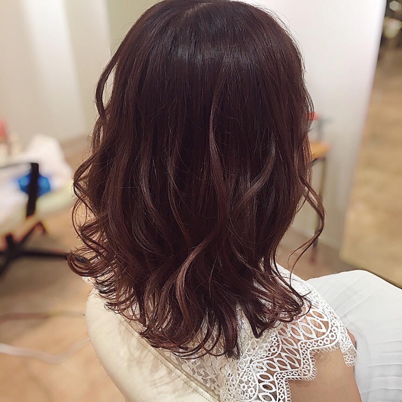 ピンクブラウン ラズベリーピンク ロング ピンクベージュヘアスタイルや髪型の写真・画像