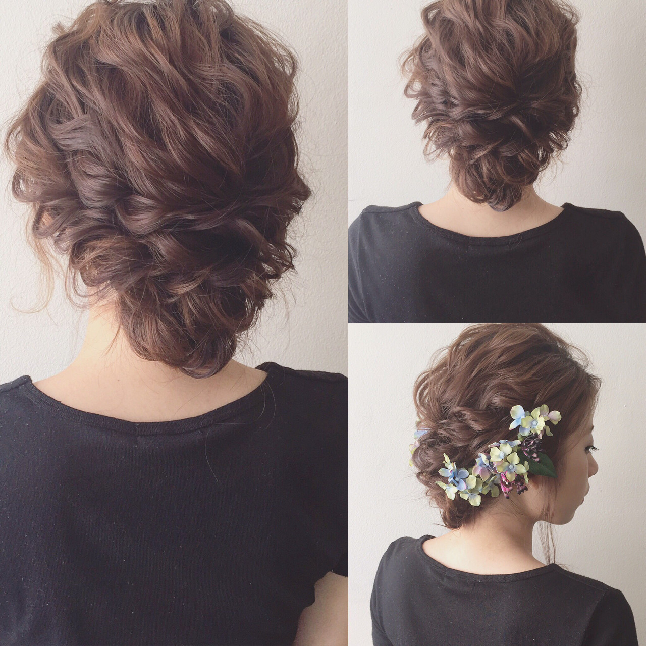 大人かわいい 夏 ミディアム 簡単ヘアアレンジ ヘアスタイルや髪型の写真・画像 | Kaneko Mayumi / BOTTOMS