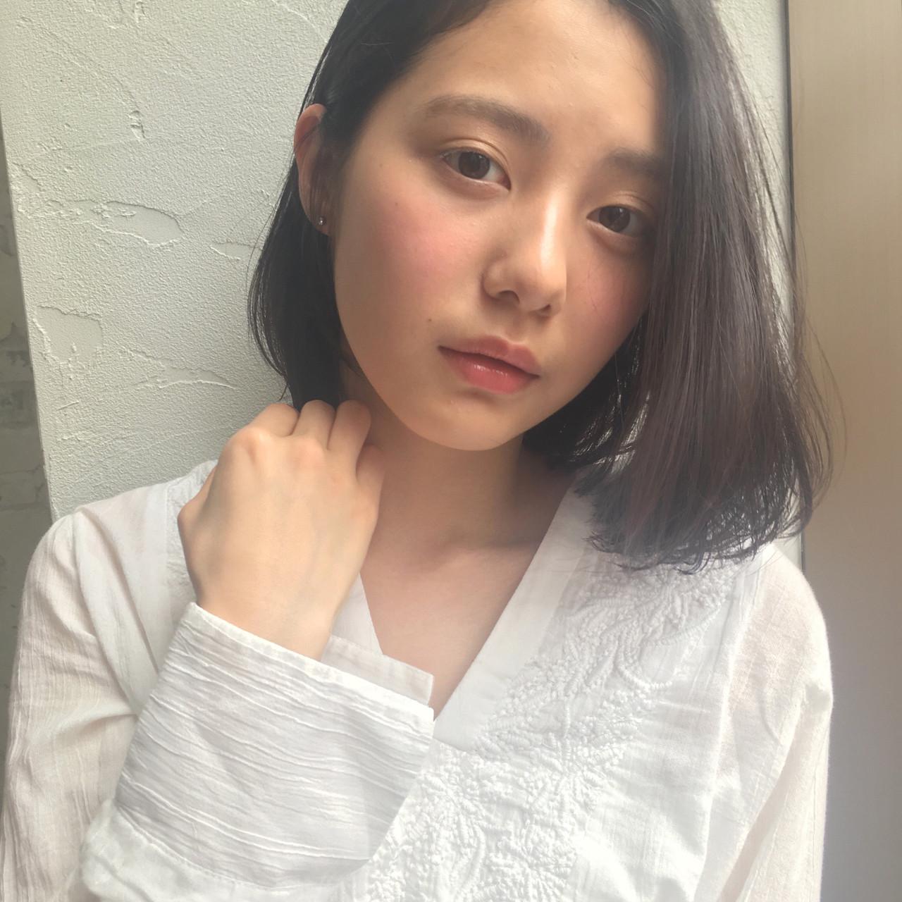 ナチュラル 暗髪 デート パーマ ヘアスタイルや髪型の写真・画像 | joemi by unami 森千里 / joemi by unami 新宿