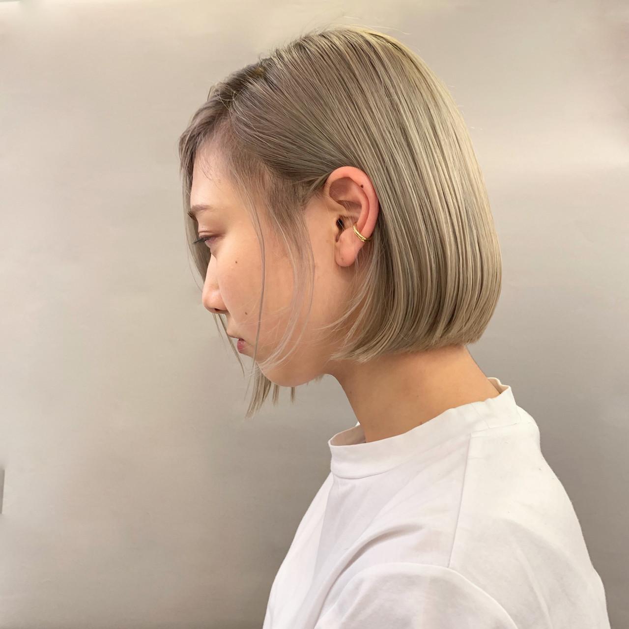 結婚式 ハイトーン アウトドア デート ヘアスタイルや髪型の写真・画像 | 安永怜 / kakimotoarms田園調布