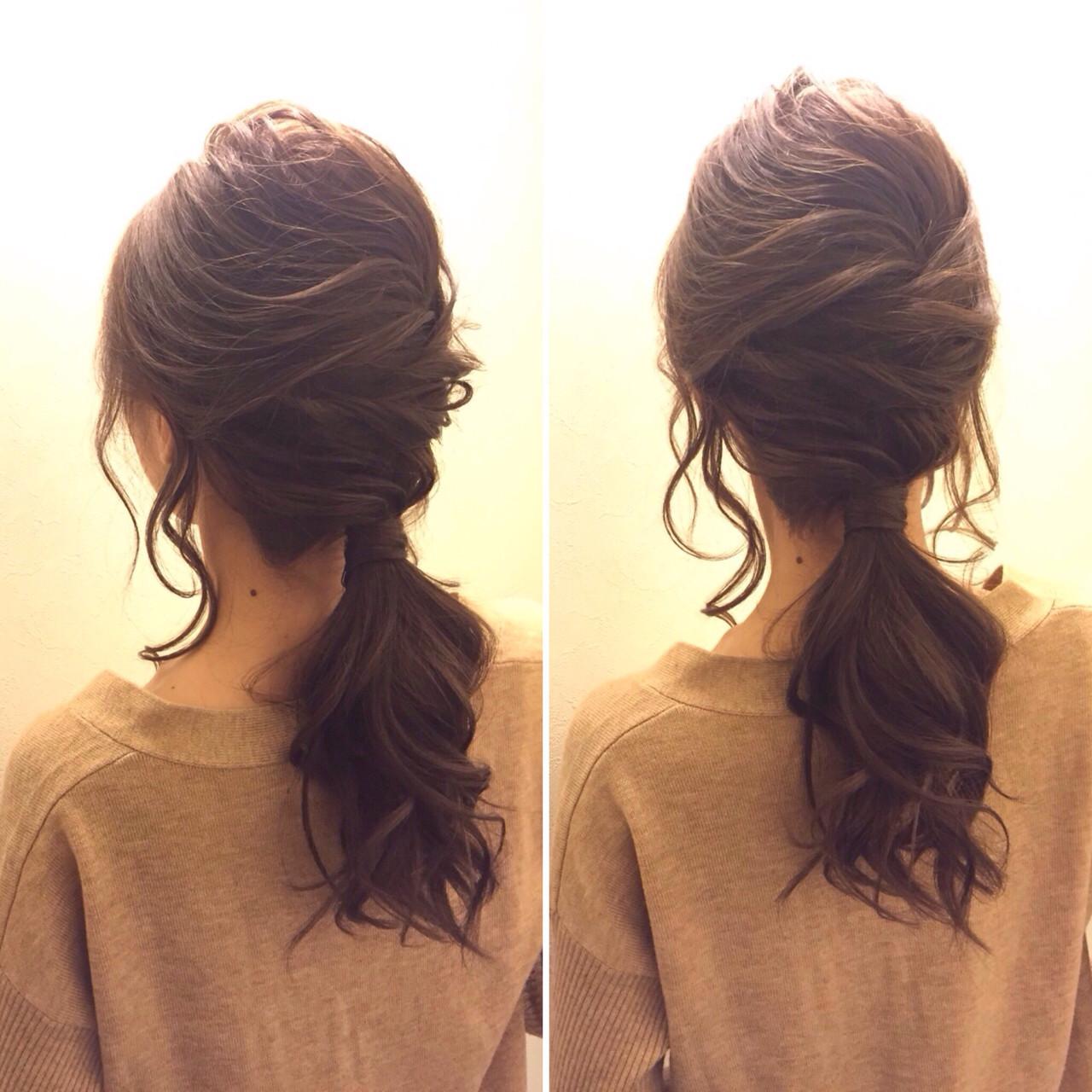 愛され モテ髪 ハーフアップ ポニーテール ヘアスタイルや髪型の写真・画像 | 桑村亮太/CALIF hair store / 函館/CALIF hair store/キャリフ ヘアストア