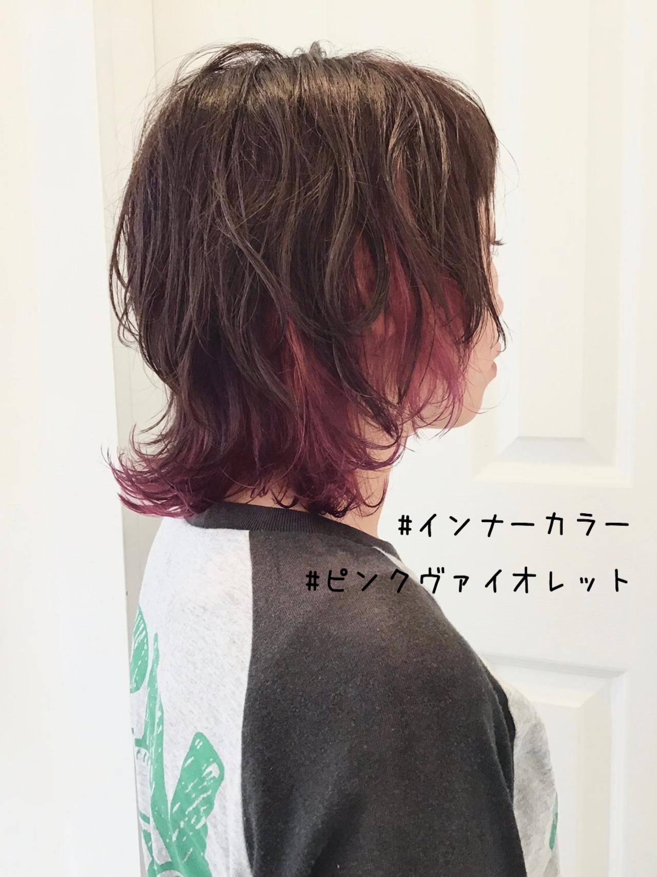 ミディアム ショートヘア ウルフカット ストリートヘアスタイルや髪型の写真・画像