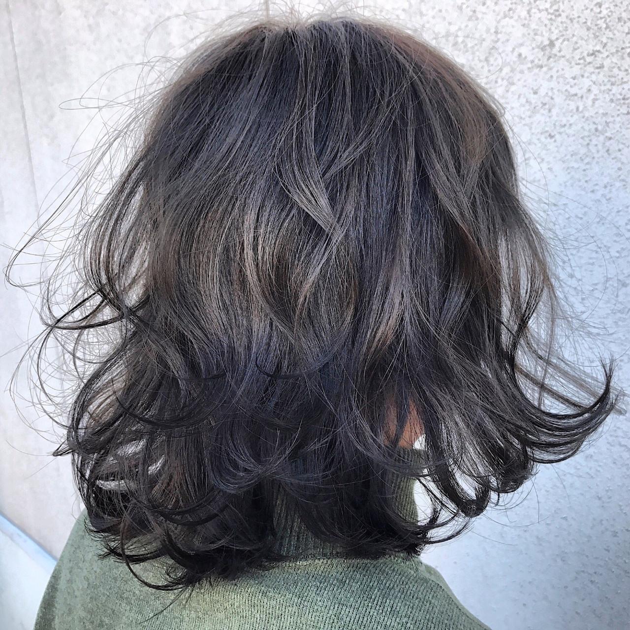 アッシュ ボブ フェミニン 外国人風カラーヘアスタイルや髪型の写真・画像