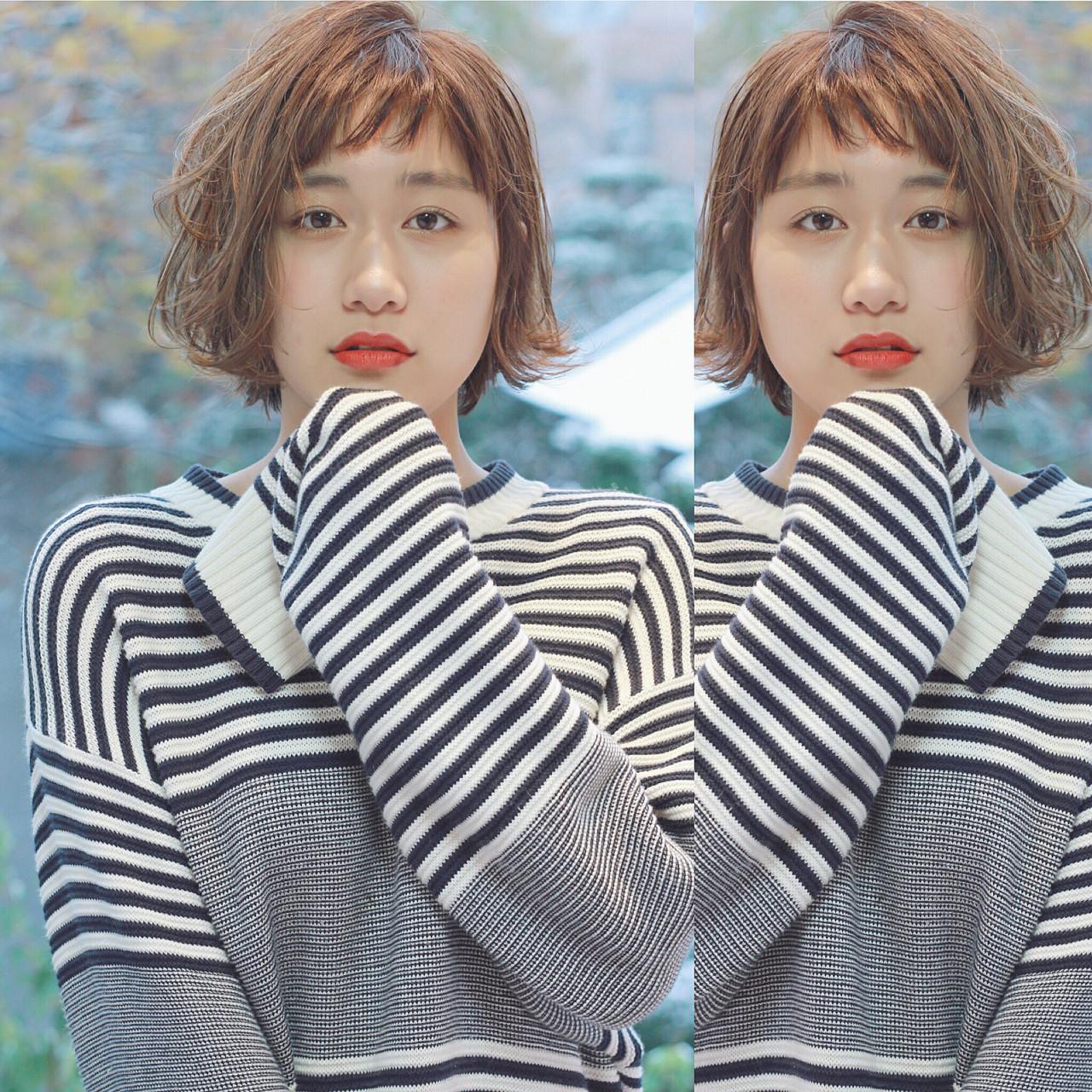 ウルフカット 外国人風 ガーリー イルミナカラーヘアスタイルや髪型の写真・画像
