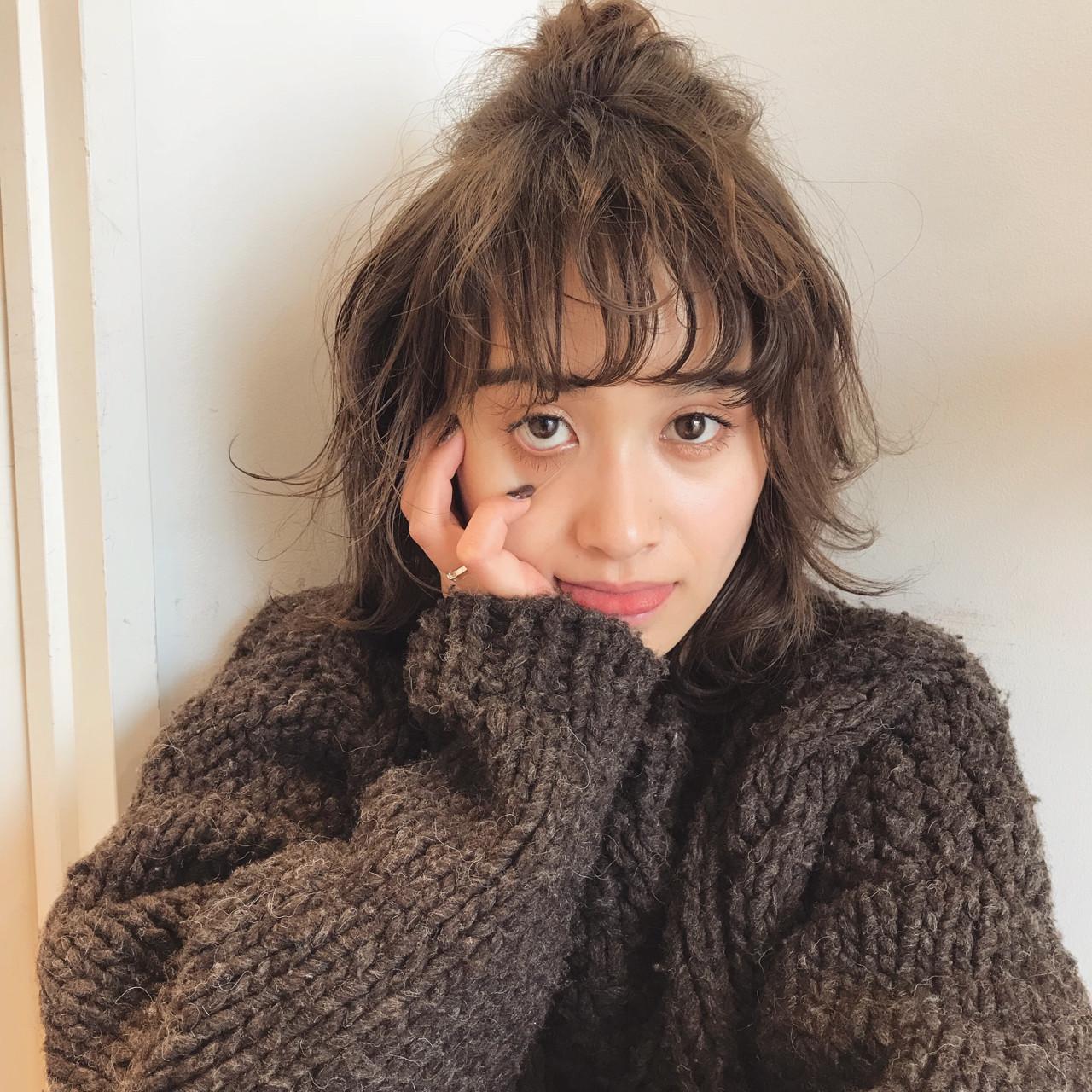 ナチュラル ミディアム デート パーマ ヘアスタイルや髪型の写真・画像   佐々木拓巳 / GARDEN harajuku