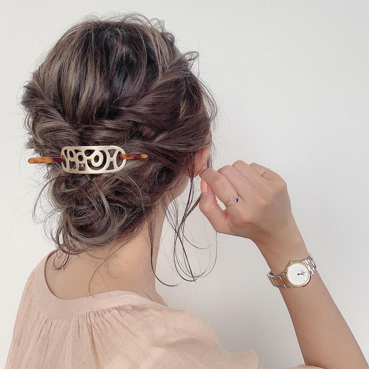 ナチュラル 切りっぱなしボブ セルフヘアアレンジ ボブ ヘアスタイルや髪型の写真・画像