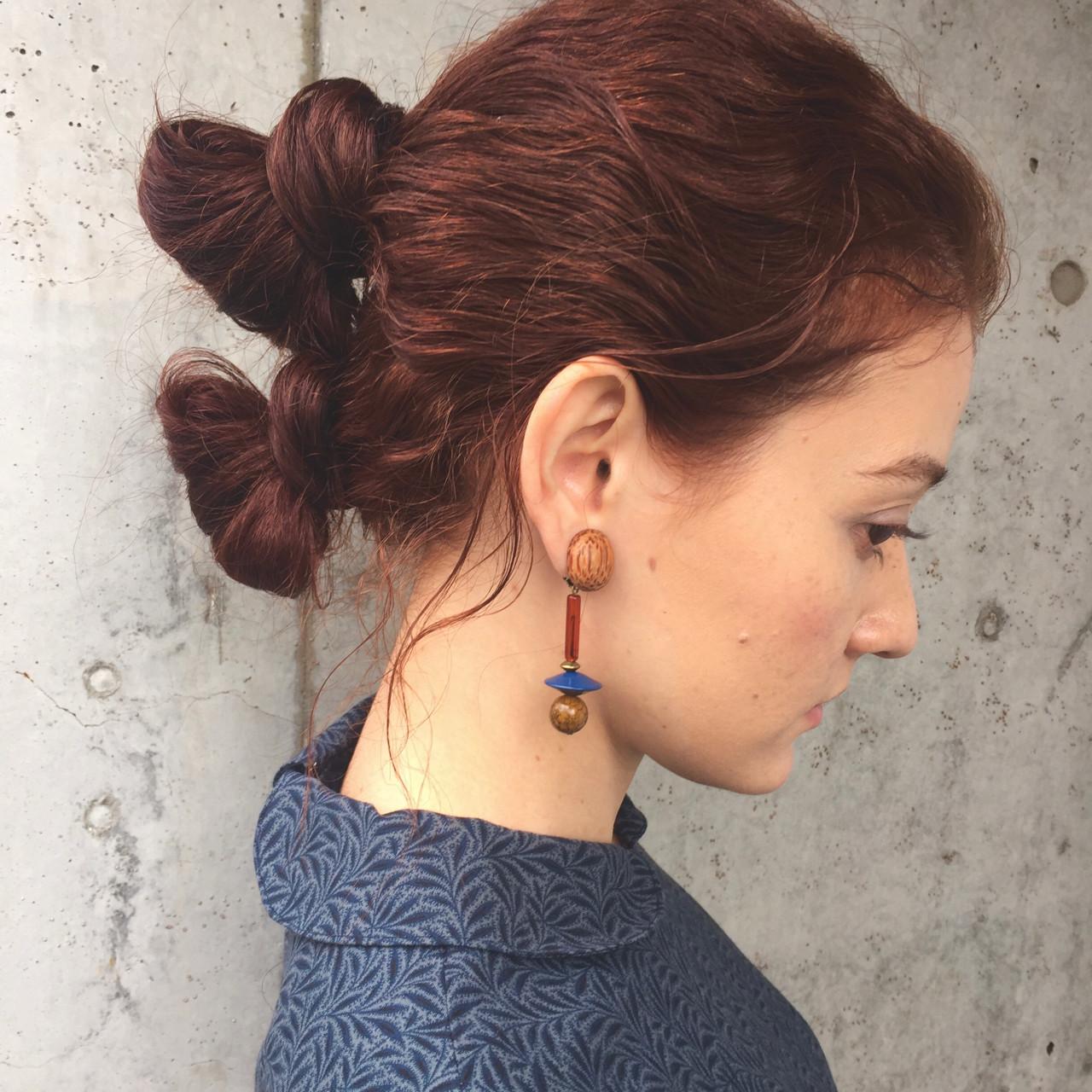 パーマ ヘアアレンジ ニュアンス 簡単ヘアアレンジ ヘアスタイルや髪型の写真・画像 | 小西敬二郎 / Heartim