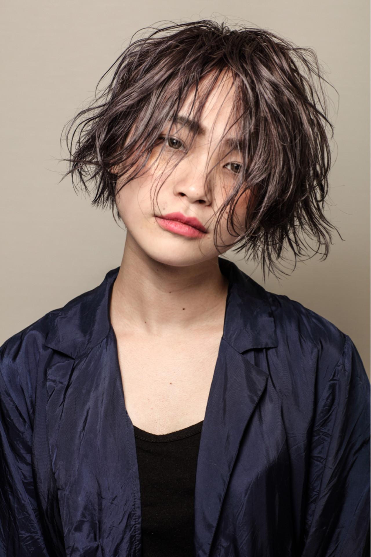外国人風カラー 前下がり ストリート ショート ヘアスタイルや髪型の写真・画像   勝又理恵 / atacca