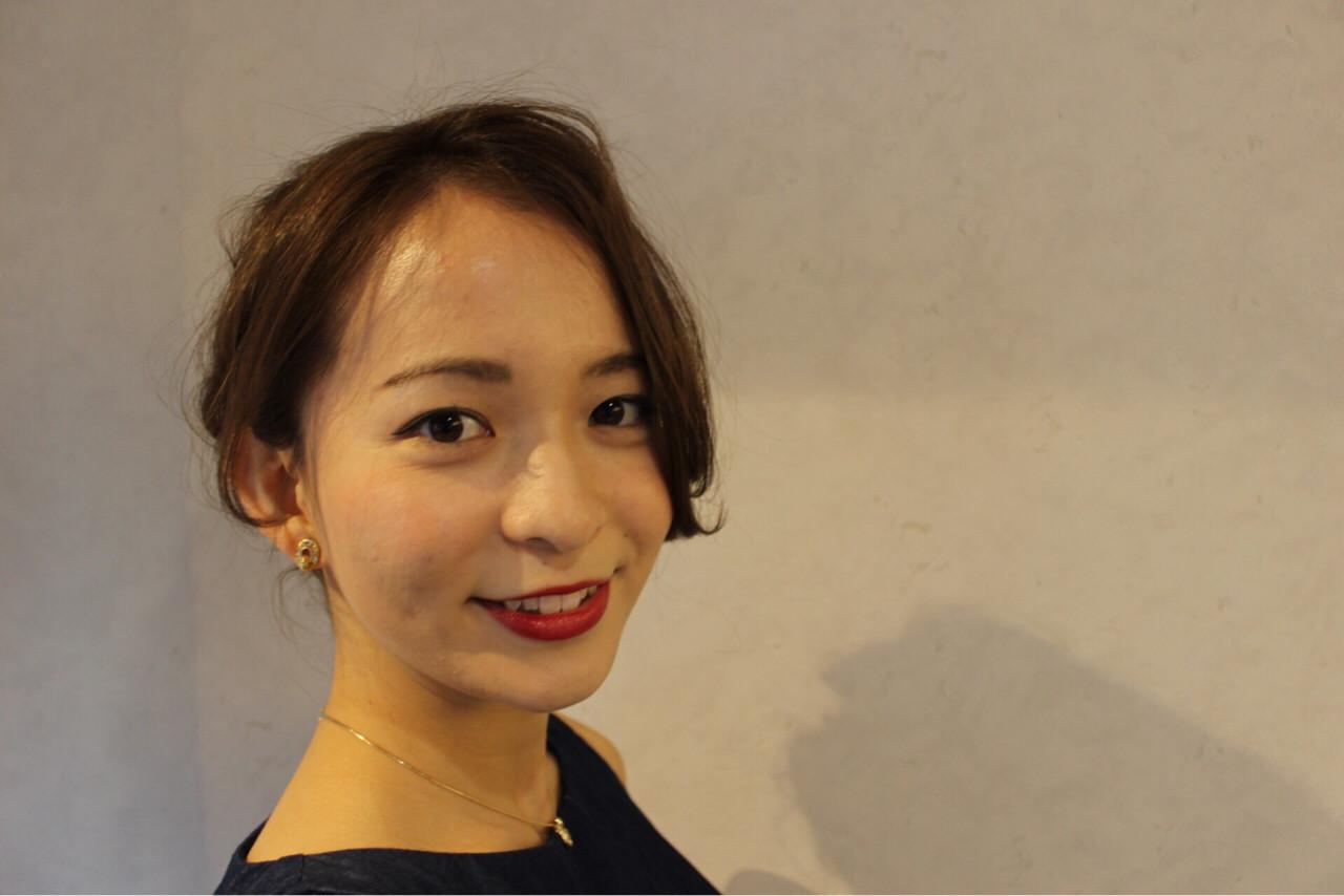 ゆるふわ 簡単ヘアアレンジ ショート ヘアアレンジ ヘアスタイルや髪型の写真・画像   伊藤 貴昭 / CACINA  カシナ