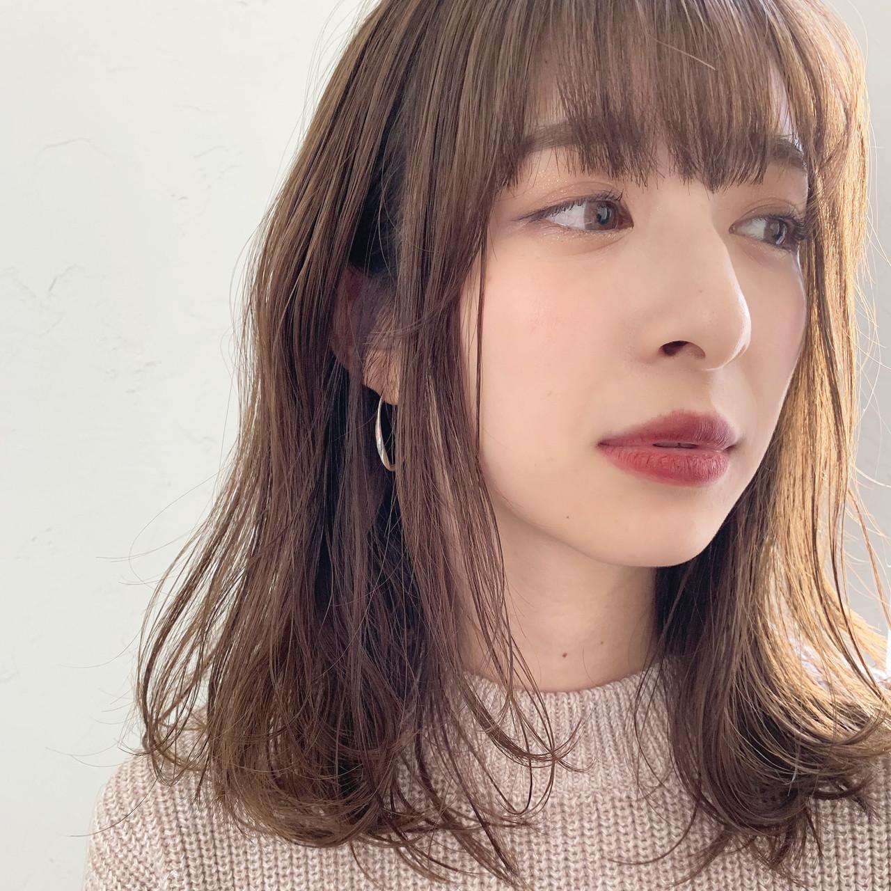 ヘアアレンジ オフィス ミディアム フェミニン ヘアスタイルや髪型の写真・画像 | 信澤貴一【愛され大人可愛いヘア美容師】 / un ami kichijoji
