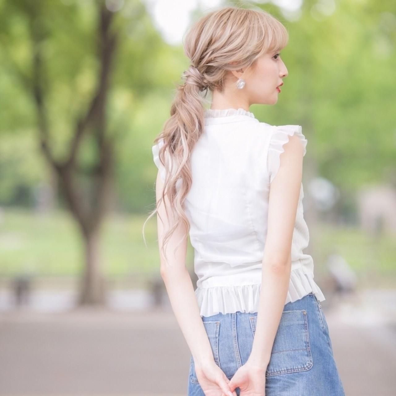 ロング ガーリー ヘアスタイルや髪型の写真・画像   ゆうと / EDeN MAeD 福岡 天神 / EDeN MAeD