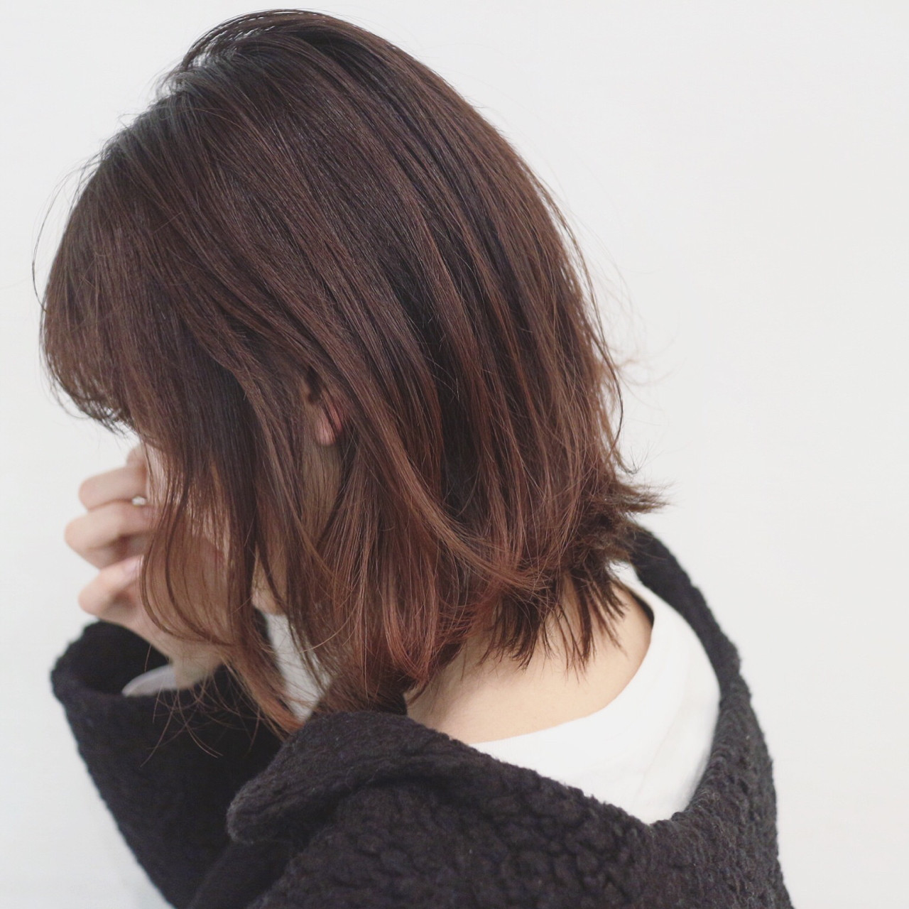 グラデーションカラー ボブ デート アウトドア ヘアスタイルや髪型の写真・画像 | 三好 佳奈美 / Baco.(バコ)