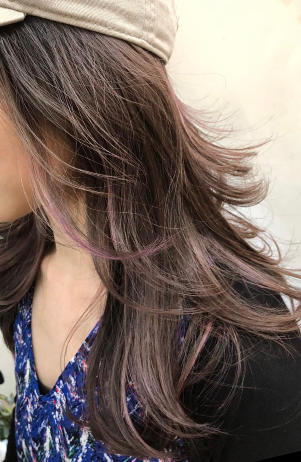 グラデーションカラー ハイライト ミディアム バレイヤージュ ヘアスタイルや髪型の写真・画像 | RUMINA //高田ゆみこ / Rumina
