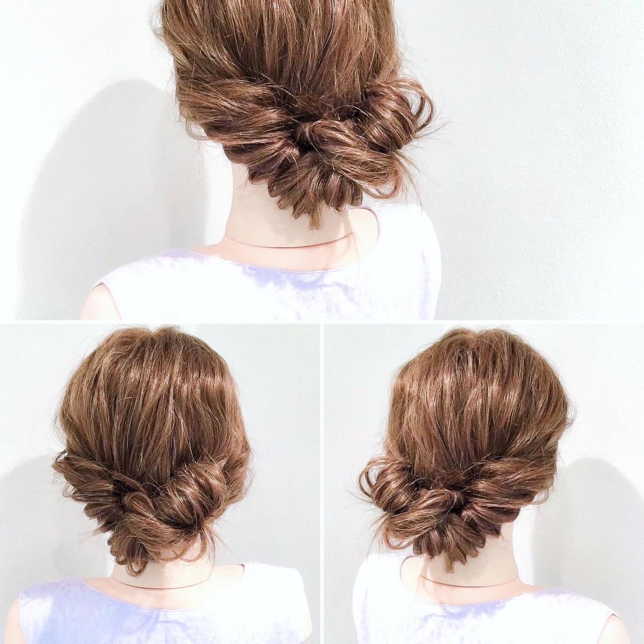 ロング フェミニン ヘアセット アップスタイル ヘアスタイルや髪型の写真・画像