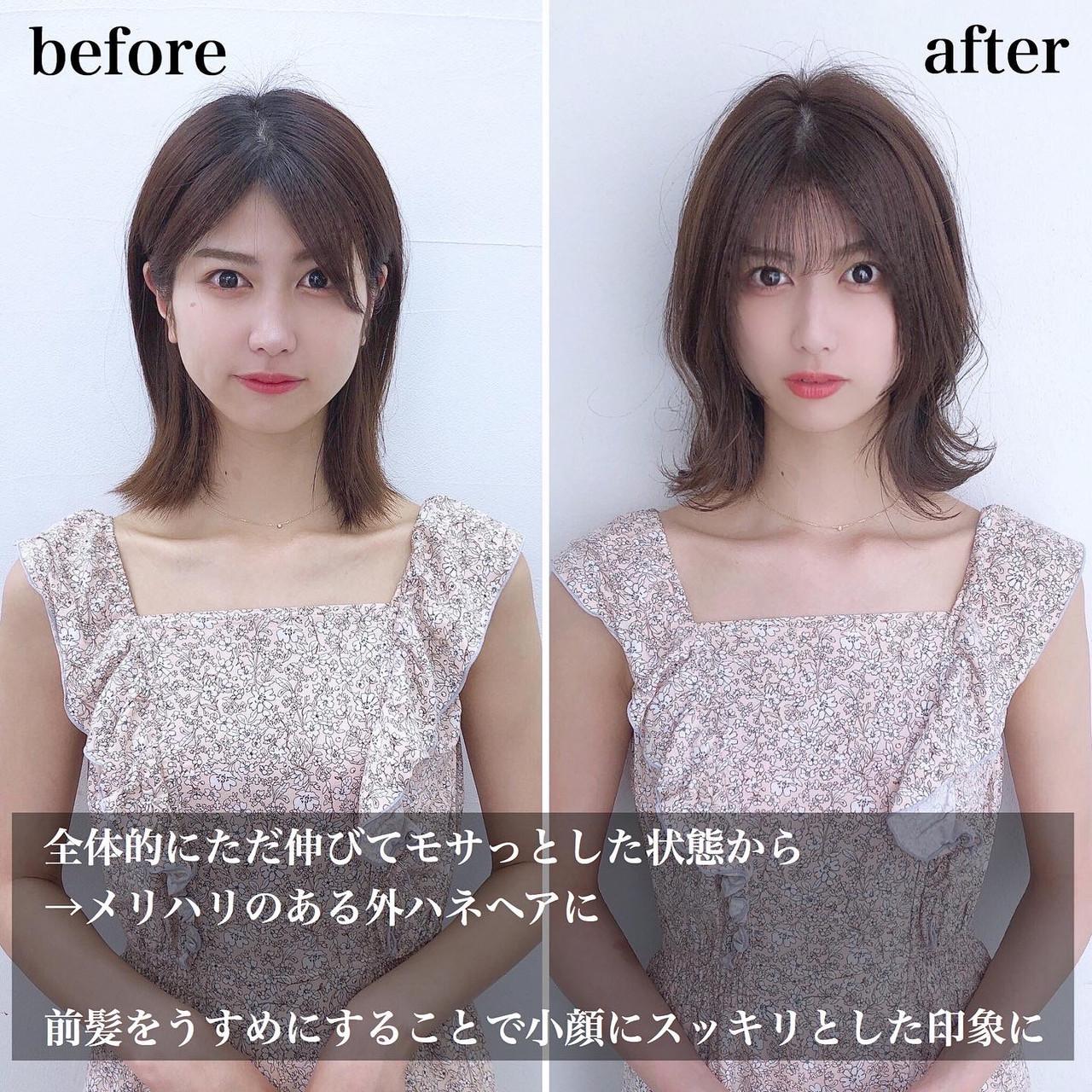 小顔 小顔ヘア 韓国風ヘアー 韓国ヘアヘアスタイルや髪型の写真・画像