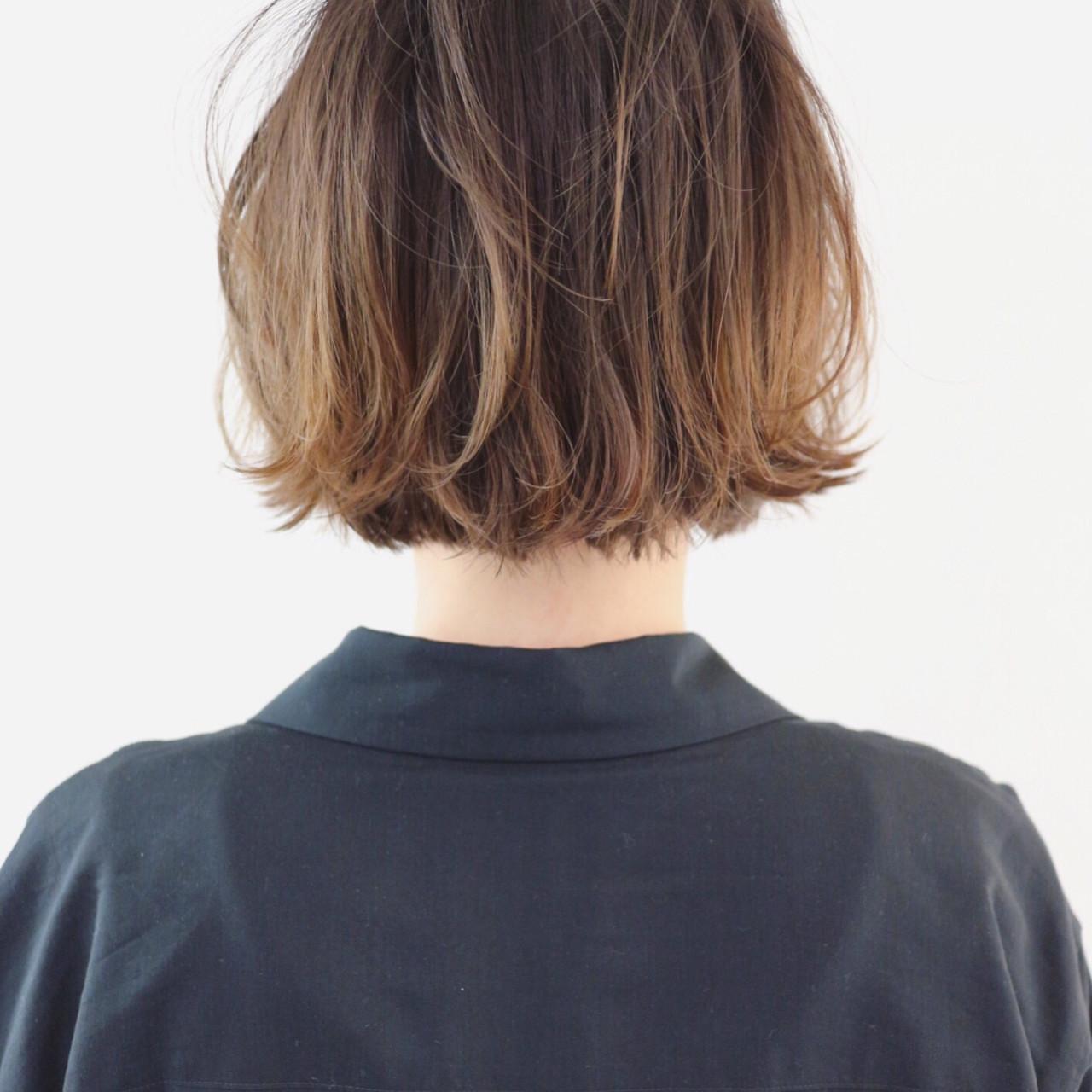 ストリート ミニボブ バレイヤージュ グラデーションカラー ヘアスタイルや髪型の写真・画像 | 三好 佳奈美 / Baco.(バコ)