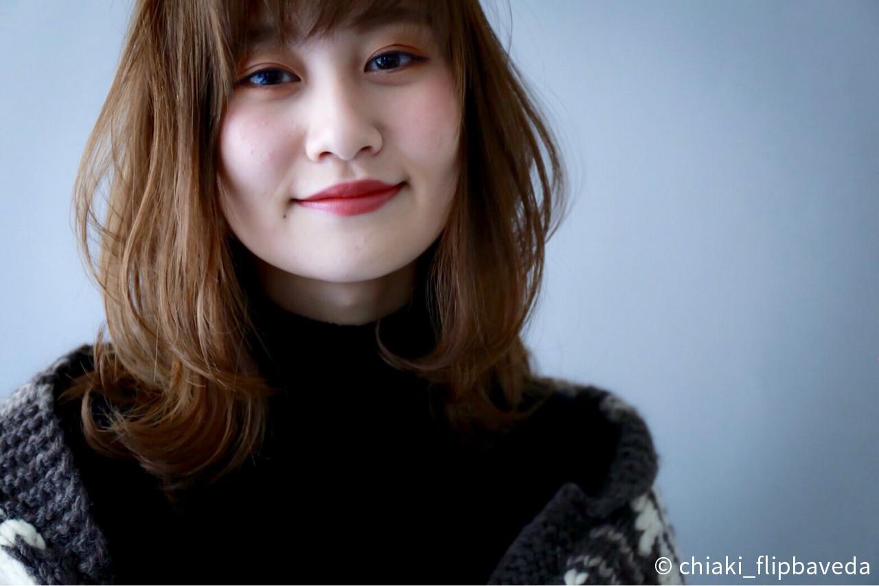 ミディアム 愛され ナチュラル バレンタイン ヘアスタイルや髪型の写真・画像 | chiaki_flipbaveda / FLIP B AVEDA