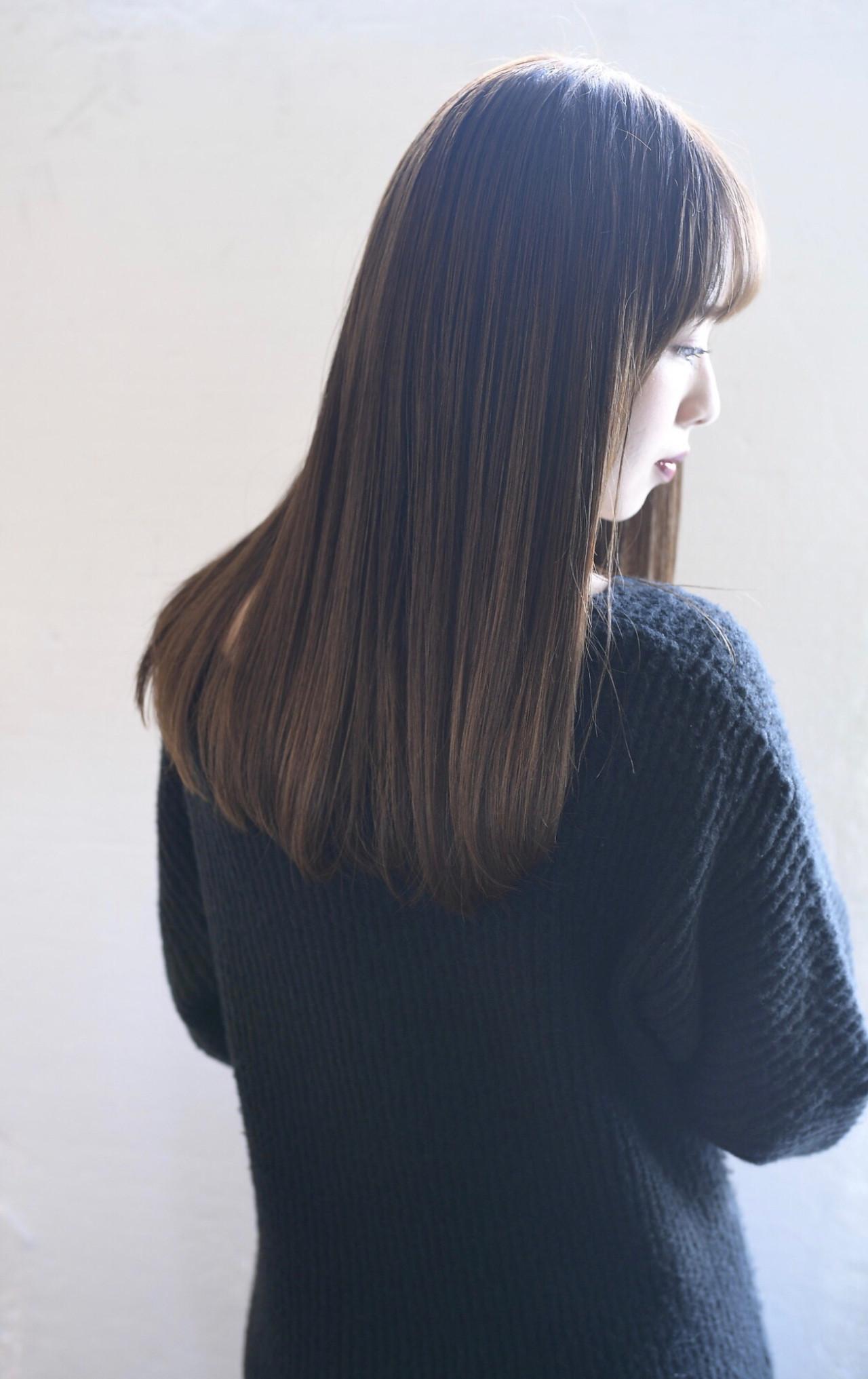 似合わせカット ロング ナチュラル 可愛いヘアスタイルや髪型の写真・画像