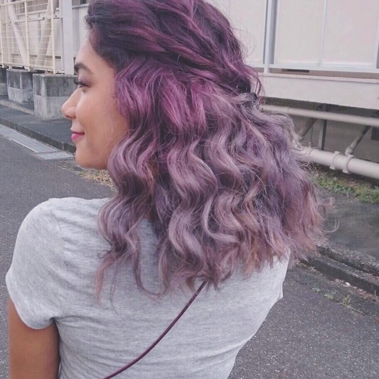 モード 透明感 ヘアアレンジ ミディアム ヘアスタイルや髪型の写真・画像 | YUJI / LIICHI / LIICHI (リイチ)