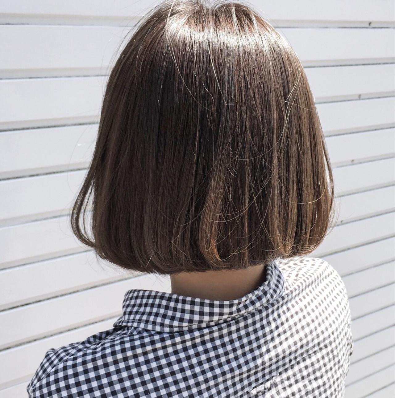 梅雨 デート リラックス ボブヘアスタイルや髪型の写真・画像