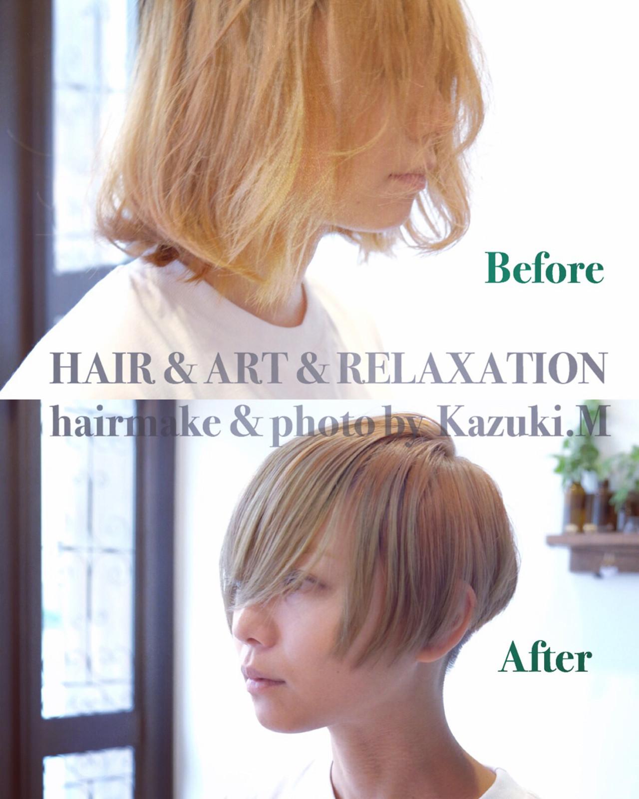 坊主 大人女子 モード 刈り上げヘアスタイルや髪型の写真・画像