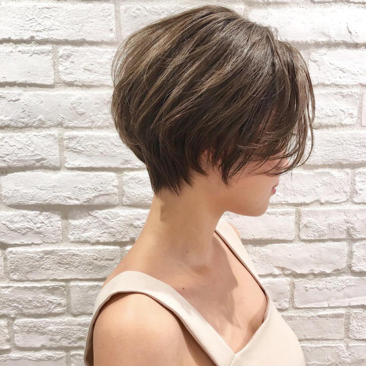 スポーツ ウェーブ ショート ナチュラル ヘアスタイルや髪型の写真・画像 | ショートボブの匠【 山内大成 】『i.hair』 / 『 i. 』 omotesando