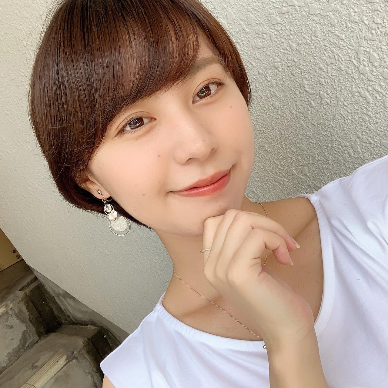 ショートヘア 小顔ショート マッシュショート 丸みショート ヘアスタイルや髪型の写真・画像   山口 健太 / Lond ange