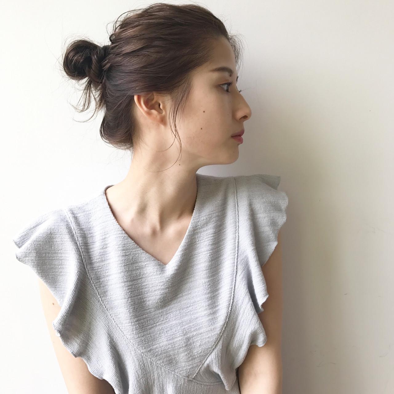 ヘアアレンジ ナチュラル 涼しげ 透明感 ヘアスタイルや髪型の写真・画像 | 佐々木拓巳 / GARDEN harajuku