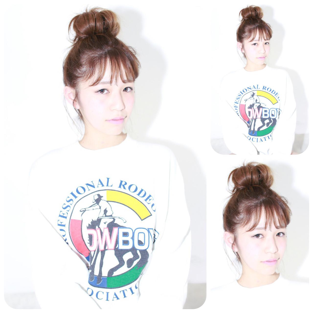 簡単ヘアアレンジ ミディアム フェミニン ショート ヘアスタイルや髪型の写真・画像 | イマムラ スナオ / LUKE