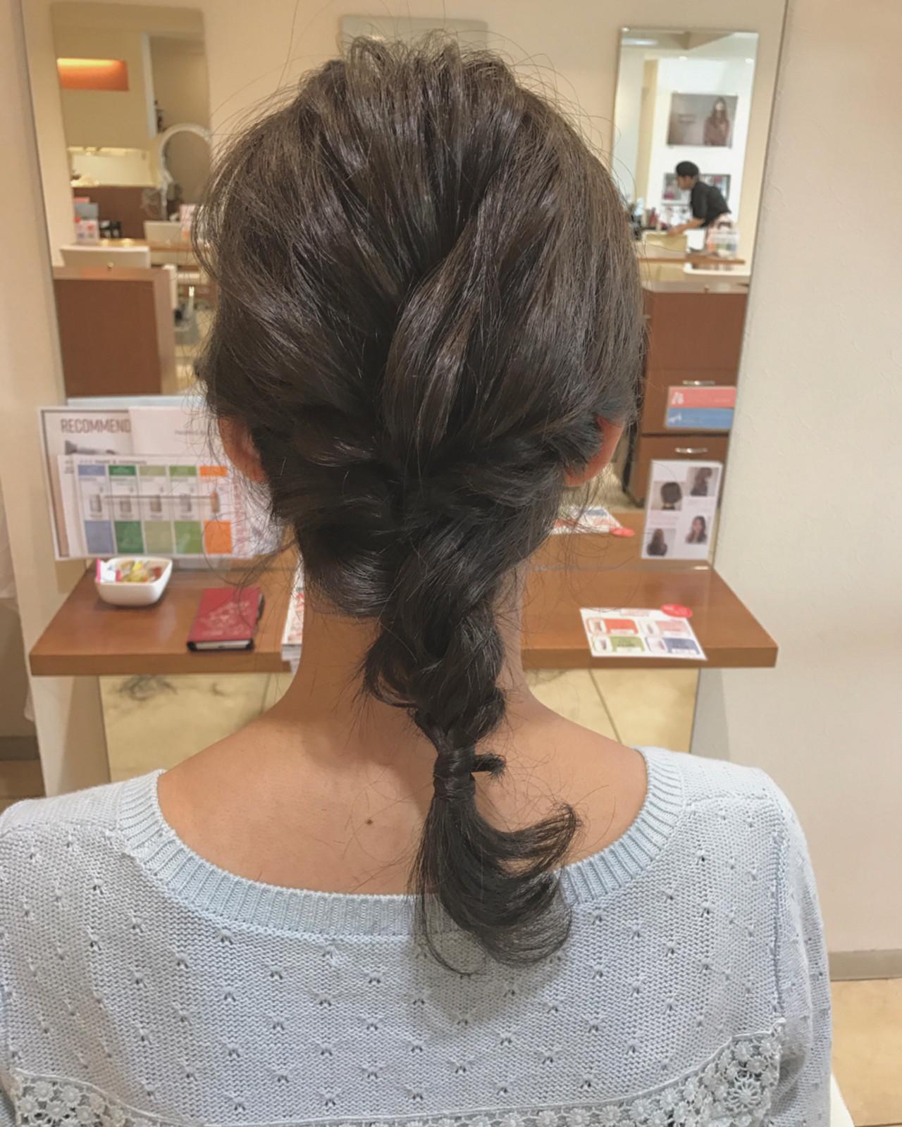 ヘアアレンジ ショート ナチュラル ミディアム ヘアスタイルや髪型の写真・画像   小田 孝一 / Oase makoto brands