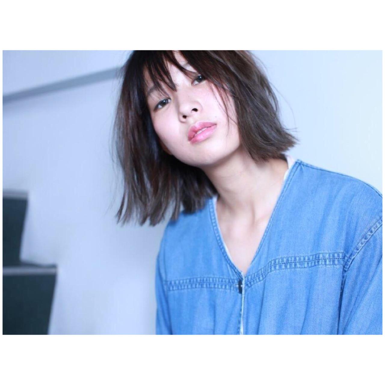 切りっぱなし ナチュラル 秋 アッシュグレー ヘアスタイルや髪型の写真・画像 | Yumi Hiramatsu / Sourire Imaizumi【スーリール イマイズミ】