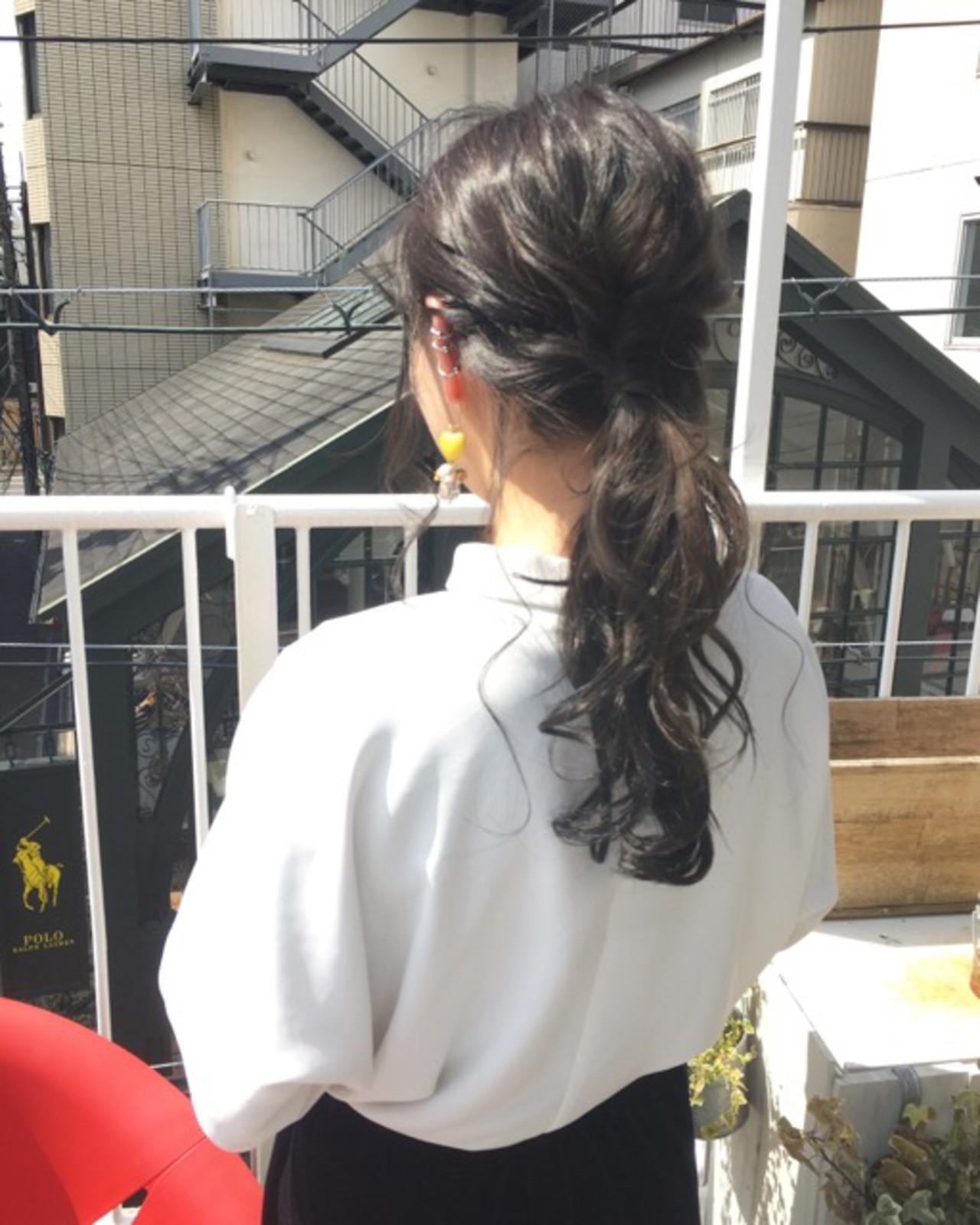 結婚式 ヘアアレンジ オフィス デート ヘアスタイルや髪型の写真・画像 | COM PASS 太一 / COM PASS