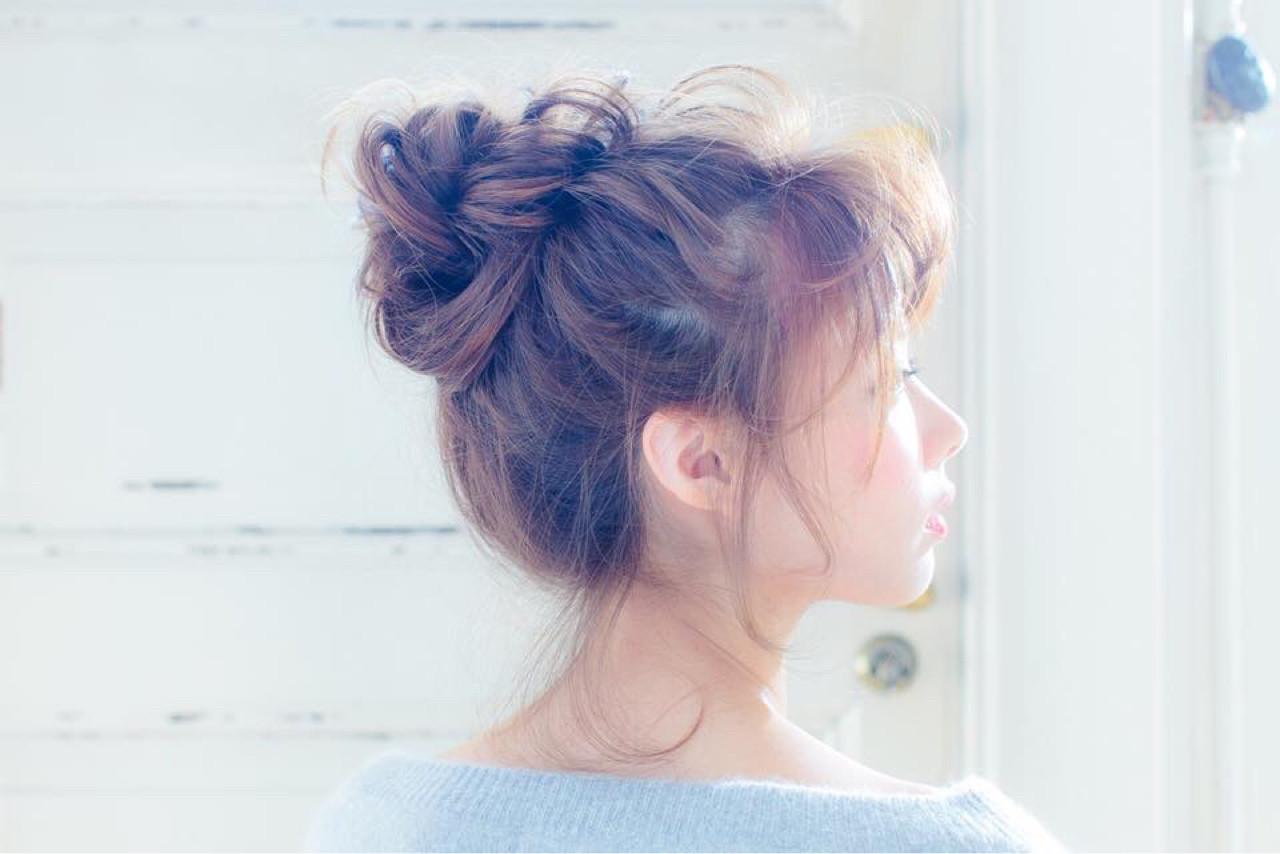 ヘアアレンジ 外国人風 セミロング イルミナカラーヘアスタイルや髪型の写真・画像