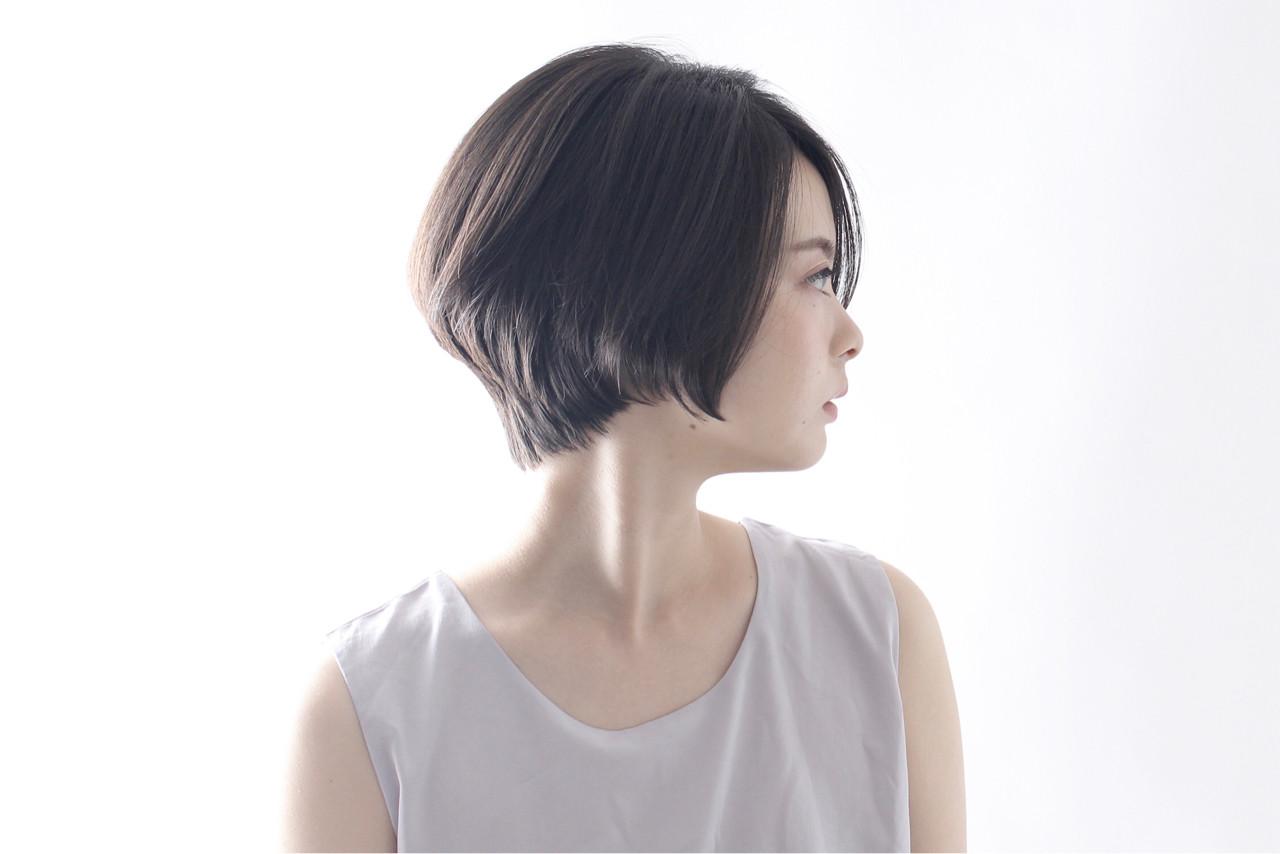 ナチュラル ショート ボブ 色気 ヘアスタイルや髪型の写真・画像 | 藤田恵子 / BEAUTRIUM 表参道店