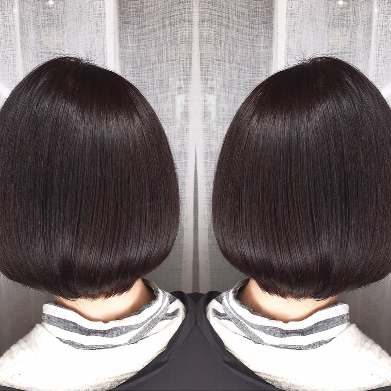 コンサバ アウトドア ボブ オフィス ヘアスタイルや髪型の写真・画像   筒井 隆由 / Hair salon mode