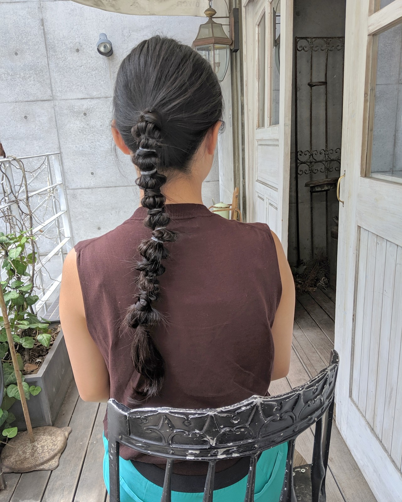ロング ポニーテールアレンジ ヘアアレンジ ナチュラル ヘアスタイルや髪型の写真・画像   HIFUMI / möwen
