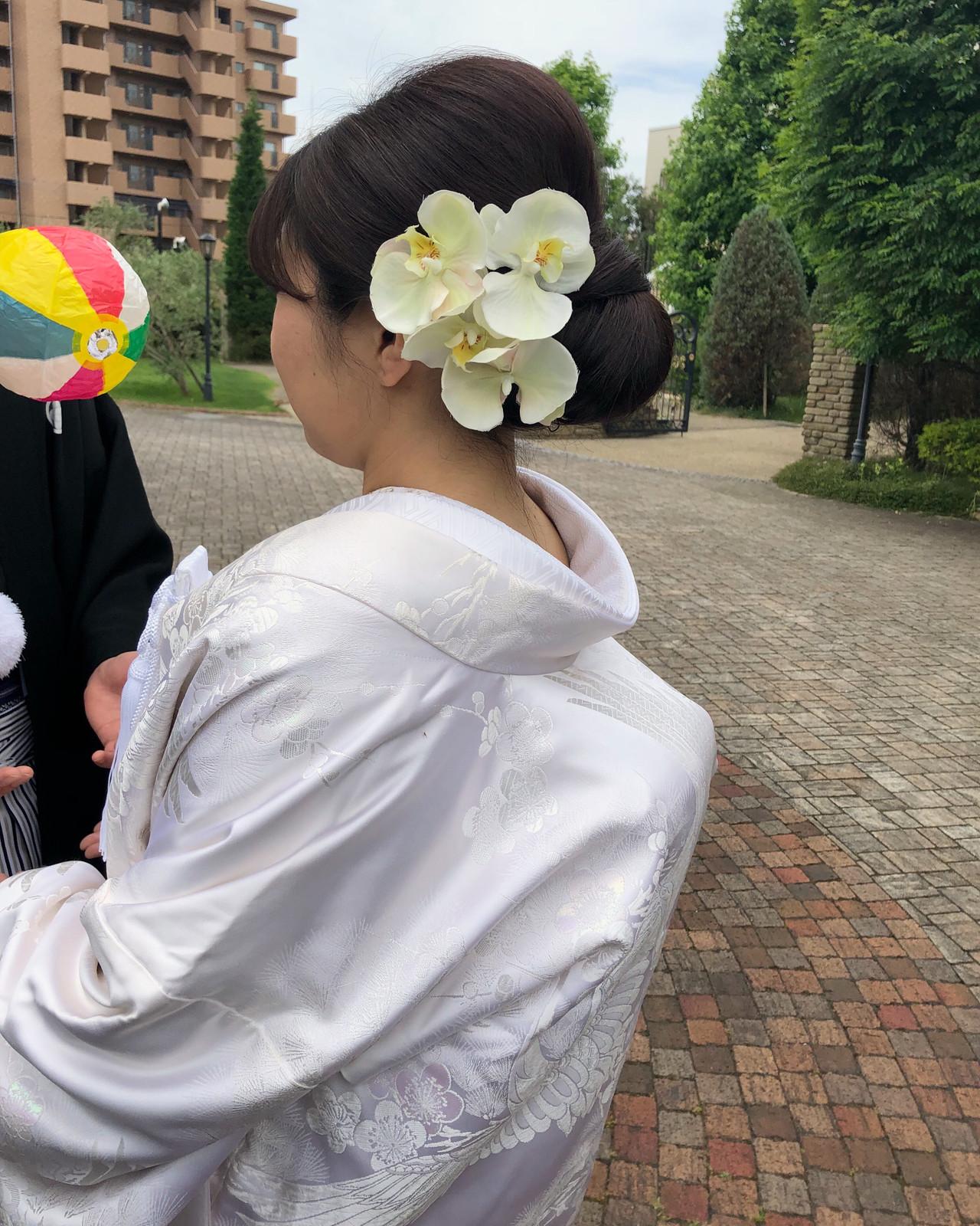 和装髪型 和装ヘア ヘアセット 結婚式髪型 ヘアスタイルや髪型の写真・画像