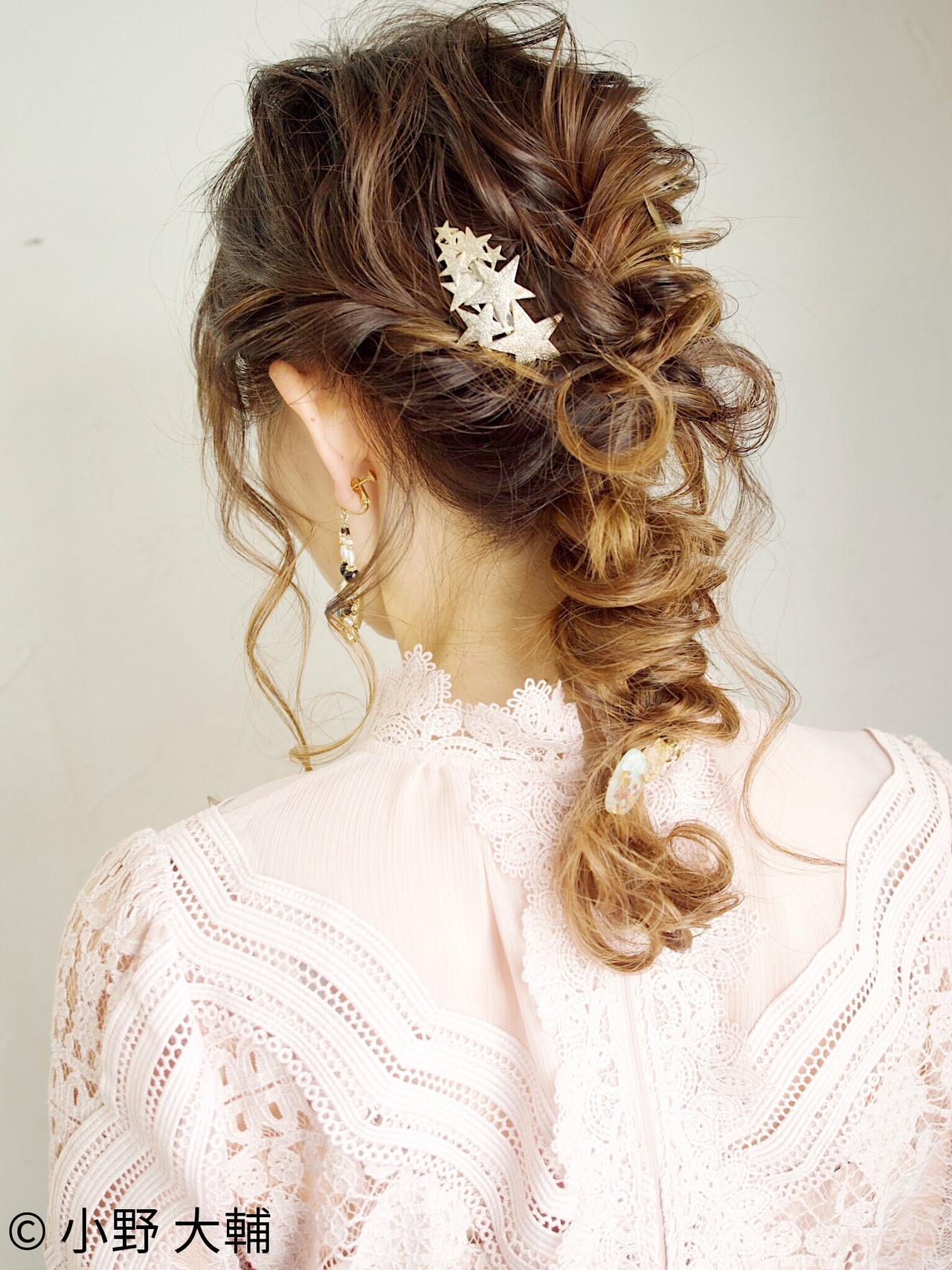 編みおろしヘア 簡単ヘアアレンジ ヘアアレンジ 編みおろしヘアスタイルや髪型の写真・画像