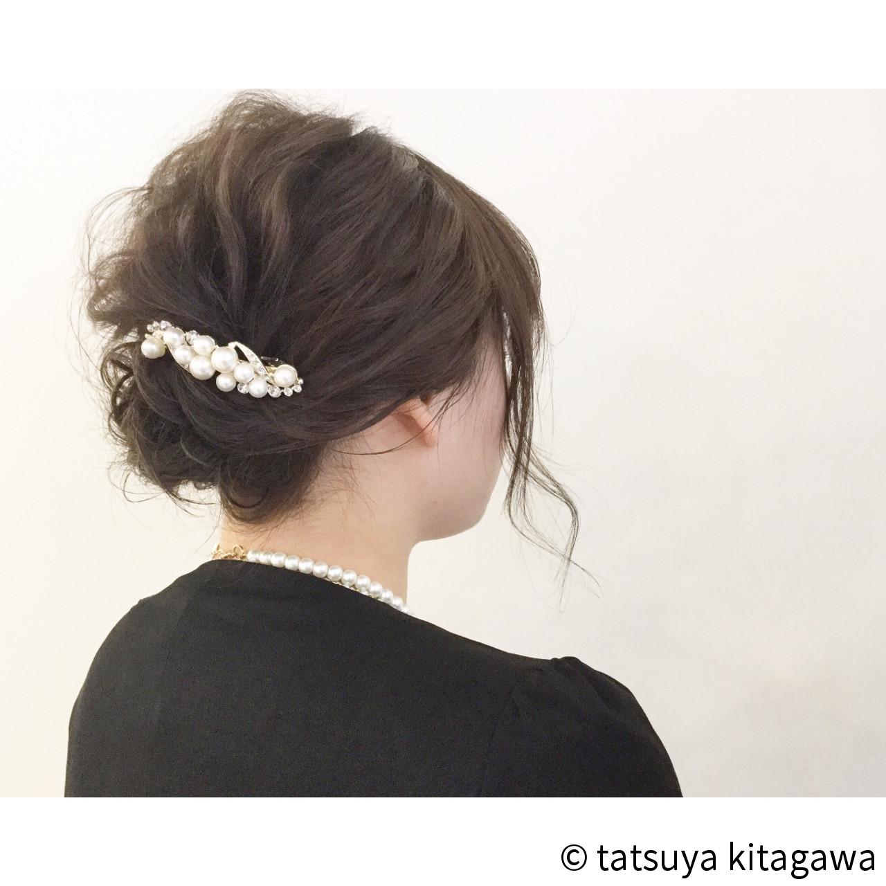 外国人風 ボブ ヘアアレンジ 結婚式 ヘアスタイルや髪型の写真・画像 | tatsuya kitagawa / clarity 京都駅前本店